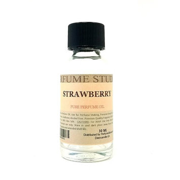 Strawberry Perfume Oil for Perfume Making, Personal Body Oil, Soap, Candle Making & Incense; Splash-On Clear Glass Bottle. Premium Quality Undiluted &...
