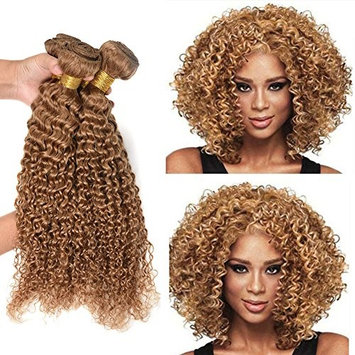XCCOCO Hair Peruvian 8A Grade Virgin Deep Curly Wave Hair 4 Bundles Real Unprocessed Sexy Curly Human Hair Extensions Mixed Length Kinky Curly Hair Wefts(27#,10