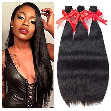 Brazilian Straight Virgin Hair 3 Bundles 8A 100% Unprocessed Human Hair Bundles Remy Hair Natural Color