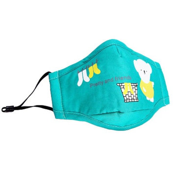 1 PCS Kids Cotton PM2.5 Anti-smog Washable Reusable N95 Masks Activated Carbon Mask-Green Bear