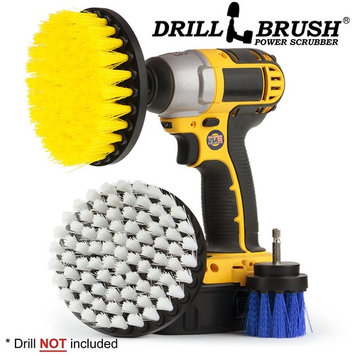 Drill Brush Attachment Boat Cleaning Drill Accessory Cleaning Brush Kit - Utilize the Power of Your Cordless Drill to Clean Boat Hulls, Carpet, Seats, Anti Skid/Nonslip Surfaces, Boat Decking and More