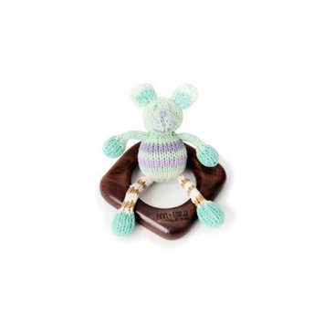 Finn + Emma Organic Teething Ring Buddy, Mouse (Discontinued by Manufacturer)