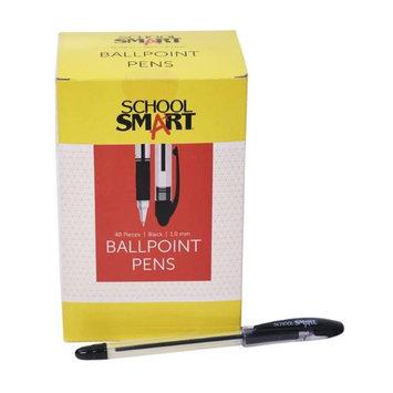 School Smart 1572352 1.0mm Pen Grip Medium Ballpoint Black - Pack of 48
