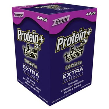 5-Hour Energy Protein+ Extra Strength Energy Drink - Grape - 6oz/4ct