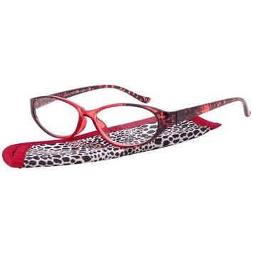 Foster Grant Women's Plastic Reading Glasses, Sibyl Red