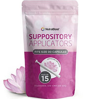 NutraBlast Disposable Vaginal Suppository Applicators (15-Pack) | Fits Most Brands, Pills, Tablets and Boric Acid Suppositories | Individually Wrapped