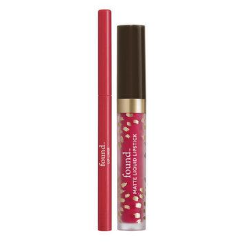 FOUND Matte Liquid Lipstick + Lip Liner with Evening Primrose Oil, 03 Rosehip