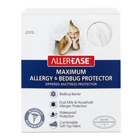 AllerEase Maximum Allergy & Bed Bug Protection Zippered Mattress Protector