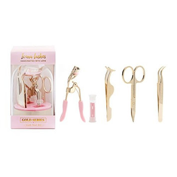 False Eyelash Tool Kit From Icona Lashes - Achieve Your Ideal Look - Eyelash Curler - Tweezers - Scissors - Applicator - Everything You Need To Apply And Care For Fake Lashes!