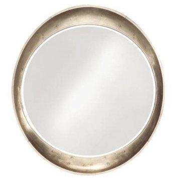 39 in. x 35 in. Resin Round Framed Mirror