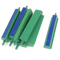 10 Pcs Aquarium Green Blue 2mm Outlet Connector Diameter Air Stone Bar