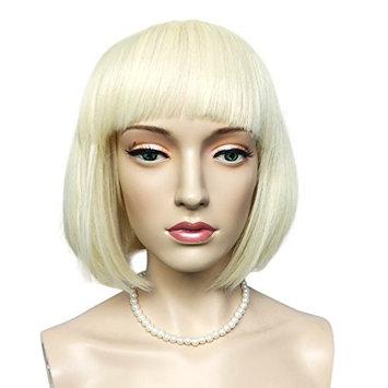 Namecute Short BOB Wig Bleach Blonde Synthetic Wigs