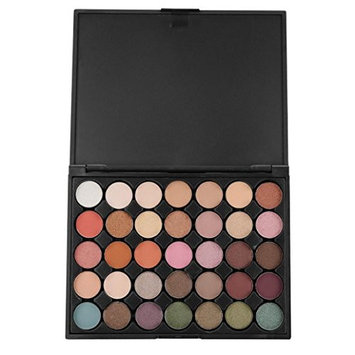 Fheaven 35 Color Shimmer Glitter Eye Shadow Make-up Powder Palette Matte Eyeshadow Cosmetic Pigmented Mineral Makeup Eyeshadow