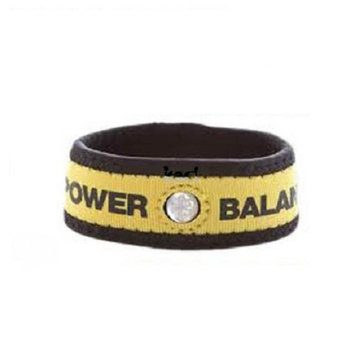 Authentic Power Balance Neoprene Wristband - Yellow/Black - Large