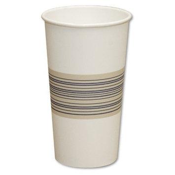 Boardwalk 20HOTCUP Paper Hot Cups, 20 oz, Blue/Tan (20 Packs of 25)