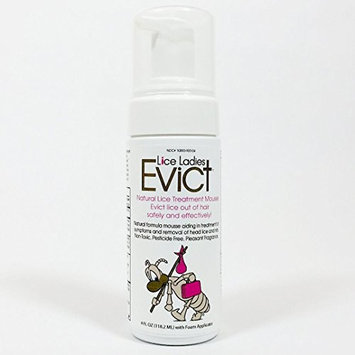 Lice Ladies EVICT Super Concentrate/Natural Lice Treatment/homeopathic Formula/Professional Lice Removal Refill for 4oz EVICT Mousse applicator – 128 Ounces (Gives You 32 Refills)