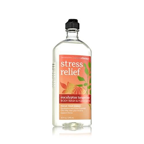 Bath & Body Works Aromatherapy Stress Relief Eucalyptus Tangerine Body Wash 10 Oz. [Eucalyptus Tangerine]