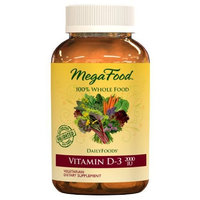 MegaFood - Vitamin D3 2000 IU, Support for Immune Health, Bone Strength, Hormone Production with Organic Herbs and Food, Vegetarian, Gluten-Free, Non-GMO, 60 Tablets (FFP)
