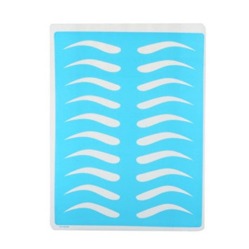 Guapa 10Pcs Silicone Permanent Eyebrow Makeup Tattoo Practice Skin Sheet Blue Complexion Training Skin For Microblading