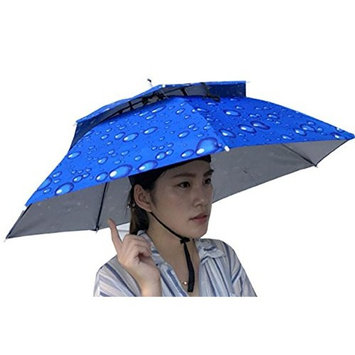 Double Layer Umbrella Hat for Women and Men, Hot Sale ! Iuhan Unisex Foldable Novelty Umbrella Sun Hat Golf Fishing Camping Fancy Dress Multicolor