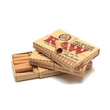 RAW Perfecto Natural Unrefined Pre-Rolled Cone Tips (3 Packs)