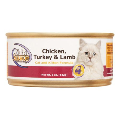Nutri-source Chicken, Turkey and Lamb Canned Cat Food (5-oz, case of 12)