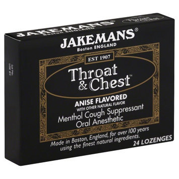 Jakemans Throat and Chest Lozenges - Anise - 24 Pack - HSG-650622