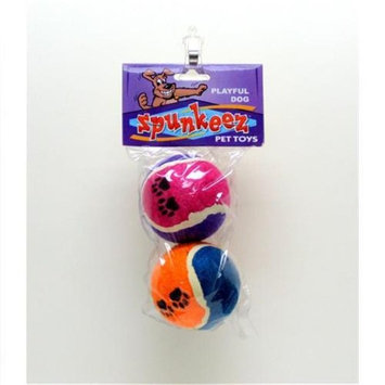 Spunkeez Spunkeez Tennis Balls Asst Colors- Case of 24