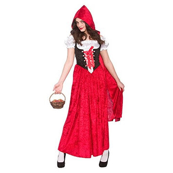 Ladies Deluxe Red Riding Hood Costume for Fairytale Nursery Rhyme Fancy Dress (M) Medium UK 14-16 Bust 38-40