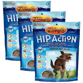 Not Available 3 Packs Zuke's Hip Action with added Glucosamine and Chondroitin BEEF (18 oz)