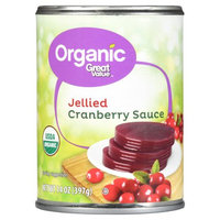 Great Value Organic Jellied Cranberry Sauce, 14 oz