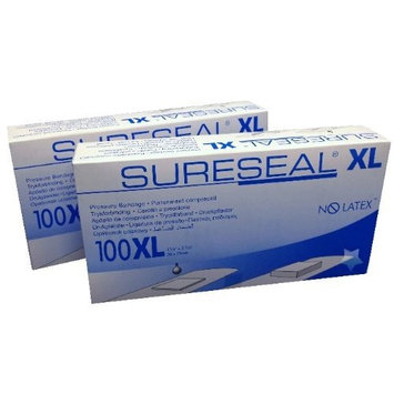 SureSeal Bandages XL, No Latex #85200, Pack of 2 Boxes (200 bandages), Sure Seal