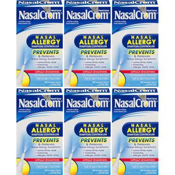 6 Pack - NasalCrom Nasal Allergy Symptom Controller Spray - 0.44oz Each