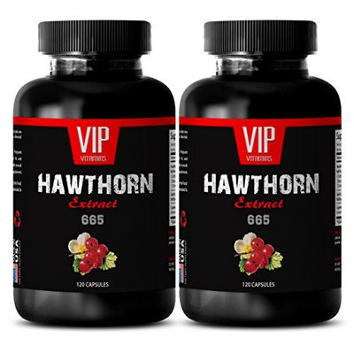 Hawthorn cayenne - HAWTHORN EXTRACT 665 - Natural diuretics for water retention - 2 Bottles 240 Capsules
