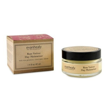 evanhealy Rose Vetiver Day Moisturizer for All Skin Types Especially Dry Oily and Combination, Made with Essential Oils and Botanical Extracts, Organic Argan Oil, Cruelty Free and Vegan, 1.4 Ounces