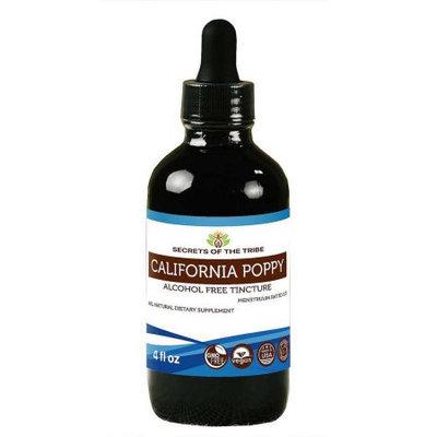 Nevada Pharm California Poppy Tincture Alcohol-FREE Extract, Organic California Poppy (Eschscholzia Californica) Dried Root 4 oz