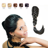 Buy 2 Hollywood Hair French Plat Hair Piece and get 1 Double Braid Headband - Bold Black (Pack of 3)