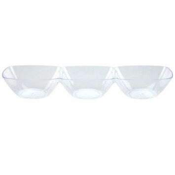 Lillian Caterware, Mini 3 Compartment Dip Dish, Clear, Ct