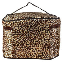 Hatop Leopard Print Cosmetic Bags Women Travel Makeup Bag Make Up Bags