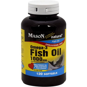 Mason Natural Omega-3 Fish Oil 1000 mg Softgels 120 ea