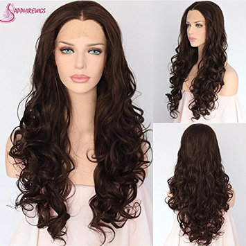 Holiday Present Fashion Makeup Blogger Dark Brown Synthetic Lace Front Wig