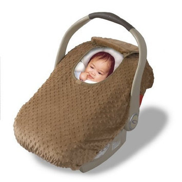 Car Seat Cover - Cover For Your Baby In Their Car Seat - Teddy Brown