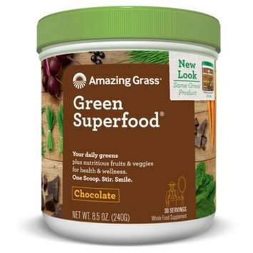 Amazing Grass Green Superfood Organic Powder with Wheat Grass and Greens, Flavor: Chocolate, 30 Servings [Chocolate]