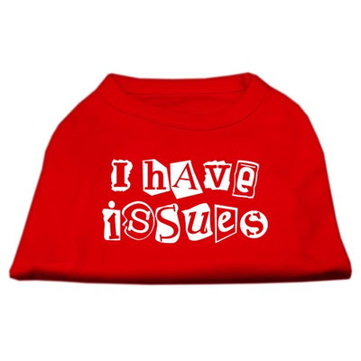 Mirage Pet Products 5129 XXXLRD I Have Issues Screen Printed Dog Shirt Red XXXL 20