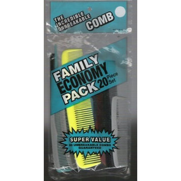 The Incredible Unbreakable Comb Family Pack 20 Unbreakable Pieces in a Pack
