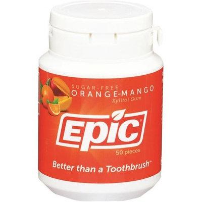 Epic Xylitol 487607 Orange Mango Gum Jar 50 Piece - Case of 24