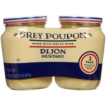 Grey Poupon ( 2 PACK ) Dijon Mustard 16oz each Total 32oz