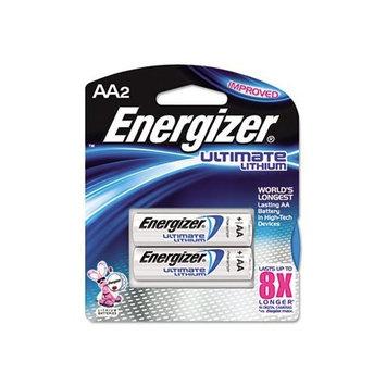 Energizer L91BP2 Lithium Battery, AA, 2/PK, SR