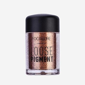 2Pcs Fashionable Glitter Loose Eyeshadow Beauty Mineral Eye Shadow Lips Loose Eyeshadow Powder Cosmetic