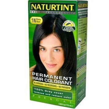 Permanent Hair Color - 1N, Ebony Black, 5.4 oz, Pack of 2 by Select Nutrition